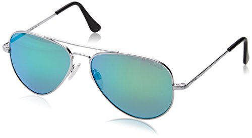 Randolph Engineering Concorde-Aviator Sonnenbrille im Matt-Chrom-grün Flash CR74467-PC 57 57 Green Flash