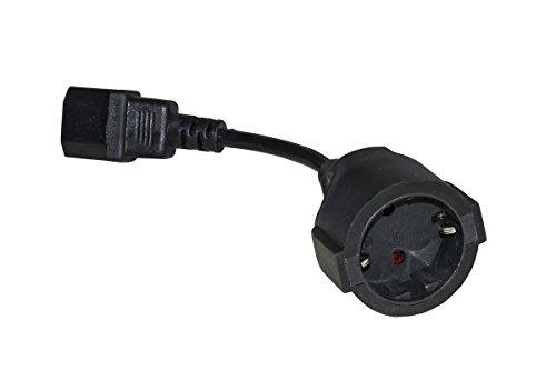 Unbekannt Link lkadsk Power Adapter Kabel Deutsch Schuko-Steckdose Buchse-IEC C14-Stecker, 15cm - Iec Steckdosen