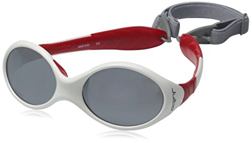 Julbo Looping II Spectron 4 Sunglasses Baby 12-24M White/Red-Gray Flash Silver 2018 Brille