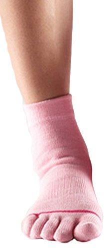 Yoga-Mad Yoga - mad Full Toesox - Calcetines de yoga, tamaño M, color rosa