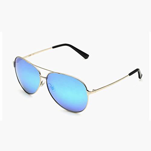 YUN Sonnenbrille Herren, UV400-Schutzglas Gummi-Nasenpads Retro Polarisierte Gläser zum Fahren und für den Außenbereich Besser (Blau) (Color : Blue)
