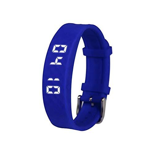 Nicololfle Smart Armband, T5 Sport Fitness Armband Schrittzähler Fitness Tracker Uhr mit Schritten Kalorien Kilometerzähler & Zeit/Datum anzeigen (Blau)