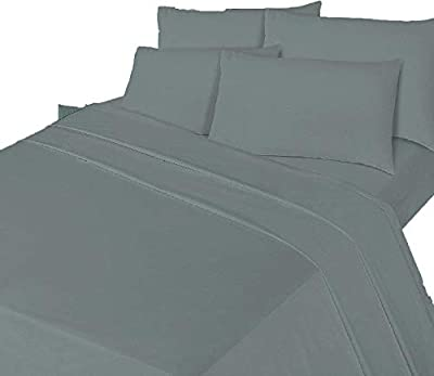 Queens Land Home 100% Brushed Cotton Flannelette Sheet Set, Fitted Sheet, Flat Sheet , 2x Pillowcases Bed Sheet Set available in all sizes.