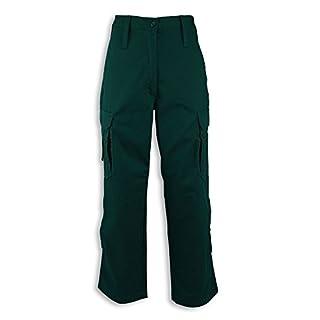 Alexandra STC-NF100AG-10T Women's Ambulance Combat Trouser, Tall, Plain, Size: 10, Dark Green