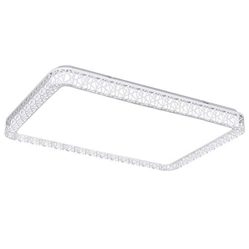 Moderne LED-Deckenleuchte warmes Licht/Cooles Licht Deckenleuchten Leuchte Hohl Design-Rahmen für Wohnzimmer Schlafzimmer, Esszimmer Option 3 Option (Design : Cool Light, Gestalten : Rectangle)