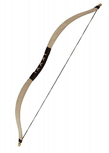 Knappenbogen LARP-Bogen aus Fiberglas Klein oder Mittel LARP Bogenschütze Mittelalter verschiedene Farben (Klein, Grau)