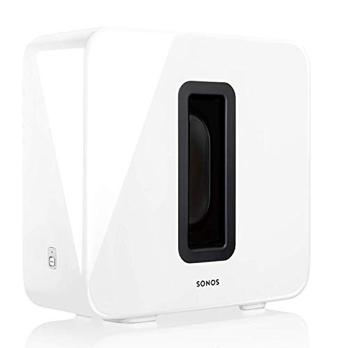 Sonos Sub Subwoofer Wireless, Integrabile ai Sistemi Sonos, Bianco Lucido
