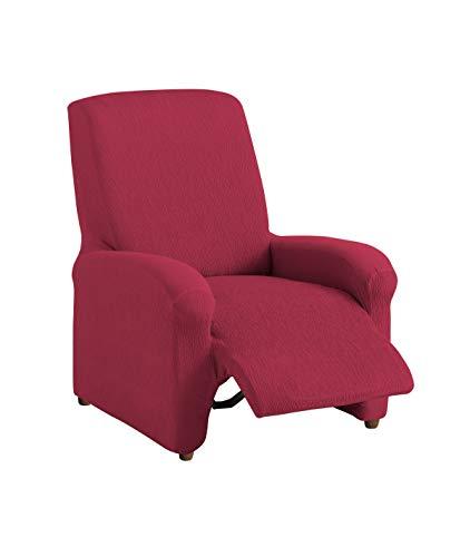Textilhome - copripoltrona relax completo teide elasticizzato, taglia 1 posti - 70 a 100cm. colour rosso