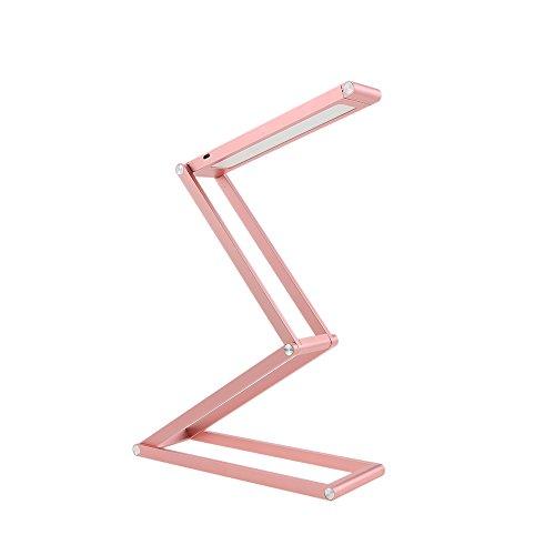 TOMSHINE Lámpara de Escritorio LED Luz de Mesa, Portátil Plegable Regulable Recargable Multifuncional Creativo, 2 Modos 3W 105lm, para Leer Estudiar Acostarse