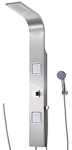 Duschpaneel für Brauseanschluss Edelstahl Duschsäule Regendusche Massagedüsen von Sanlingo