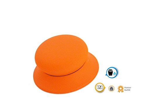 Kerafactum®-Impugnatura Arancione in silicone coperchio universale coperchio Grip-adatto per coperchi in vetro