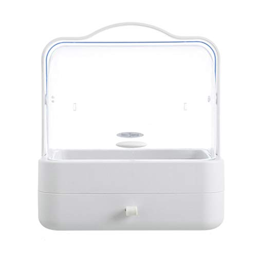 NEU! Tensay Staubdicht Desktop Schublade Kommode Rack Tragbare Kosmetische Aufbewahrungsbox Transparent Tragbare Kosmetische Schminktisch Hautpflegeprodukte Organisieren Rack -