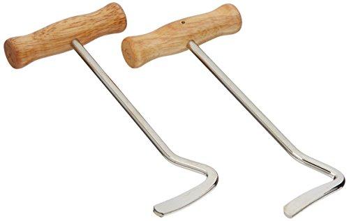 PFIFF 005267 Stiefelanzieher mit Holzgriff, Anziehilfe Anzieher Stiefel, 2 Stück
