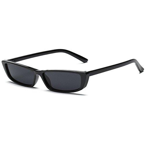 0d11d793f07 Yukun Gafas de sol Rectangular Small Frame Vintage Black Glasses Narrow  Glasses Toned Gafas de Sol