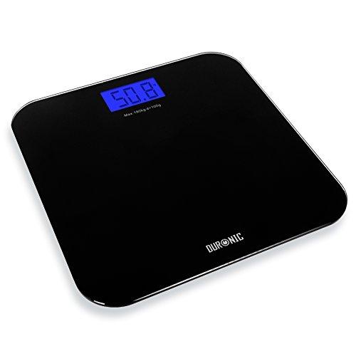 Duronic BS601 digitale Personenwaage / Badezimmerwaage / Gewichtswaage / Körperwaage, bis zu 180 kg und Touch-Display