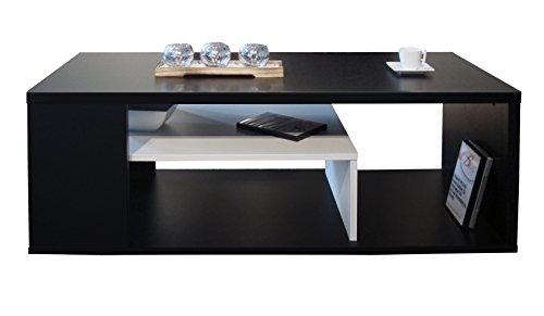 Berlioz Creations Melinga Couchtisch Holz Schwarz Und Weiß 111 X 50