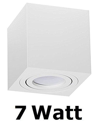 comprare on line Palermo, lampada da soffitto, plafoniera con LED SMD, Qube Downlight, a forma di cubo, colore bianco, 7W prezzo