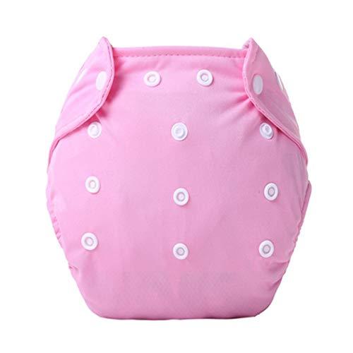 fnemo Badeanzug Windel,Verstellbarer Knopf Baby Stoffwindeln Wiederverwendbare waschbare Windelhose für Babys und Jungen