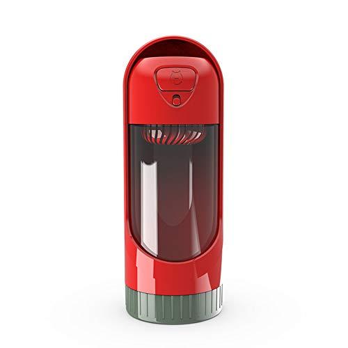 Hundekessel, Tragbare Haustier-Reise-Trinkwasser-Einziehbare Schale Auslaufsichere Antibakterielle 300ML Kapazität 6cm Großes Waschbecken,Red,18.8 * 6.4cm
