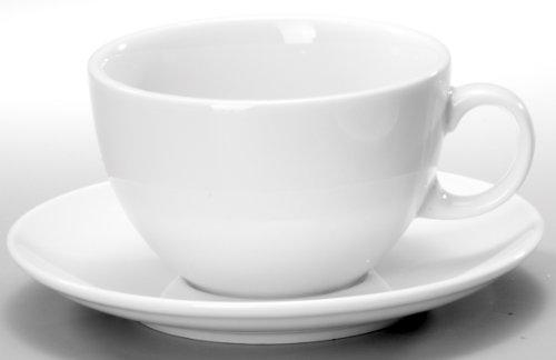 Seltmann Weiden VIP Weiss Uni Milchkaffeetasse 0,37 l mit Untertasse 1164
