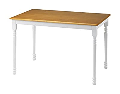 Julian Bowen Oslo Dining Table, White/Oak produced by Julian Bowen - quick delivery from UK.