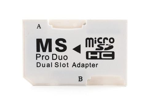 Microsdhc a ms pro duo adattatore. converte due microsd o microsdhc a ms pro duo ideale per psp playstation da king of flash