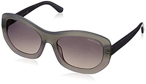Tom Ford Women's FT0382 Sunglasses, Grey (Crystal Lilac), One Size