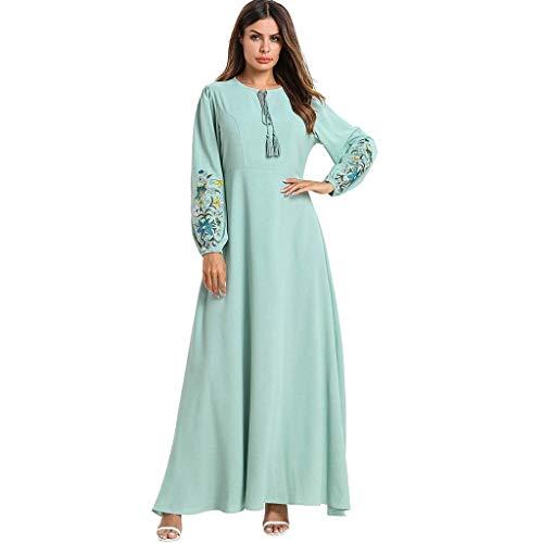 Muslimische Kleider Yesmile Damen Elegante Muslimischen Kaftan Kleid Islamische Kleidung Frauen Abaya Kleidung Dubai Robe Kleid Hochzeit Kleid Tunika Lang Kleider Kleidung Große Größe (Gebet Schal Frauen Für Jüdischen)