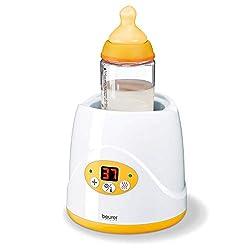 Beurer BY 52 Babykost- und Fläschchenwärmer, zum Erwärmen und Warmhalten von Babynahrung, 8 Minuten Aufwärmzeit, digitale Temperaturanzeige, passend für alle handelsüblichen Babyflaschen