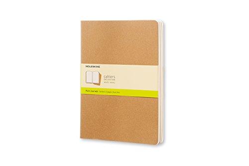 Moleskine Cahier Journal (juego de 3 cuadernos con páginas en blanco, cubierta...