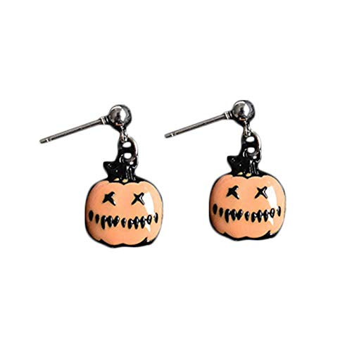 Qinlee Katzenohrringe für Damen Mädchen süße Emulations-Ohrringe Cartoon Kuchen Kaktus Kürbis Magischer Hut Popcorn baumelnde Ohrringe für ()