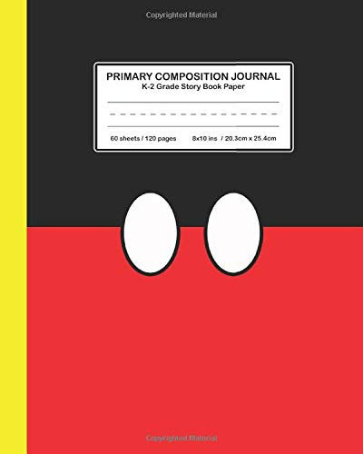 Primary Composition Journal K-2 Grade Story Book Paper: Mickey Mouse S