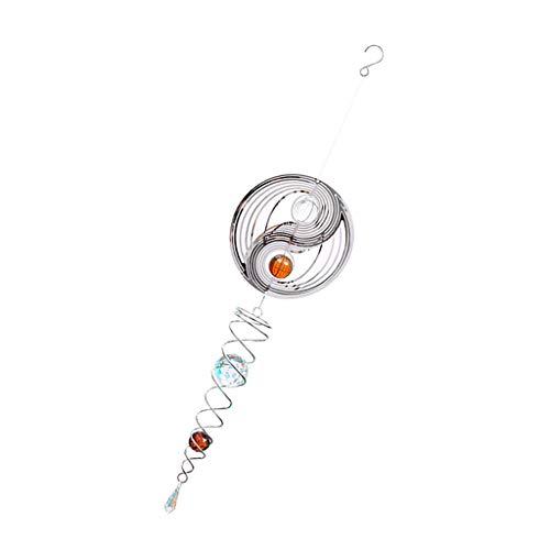FLAMEER Creative Windspiel Yin Yang mit Glaskugel, toller Hingucker für Garten / Home Deko, Geschenkidee