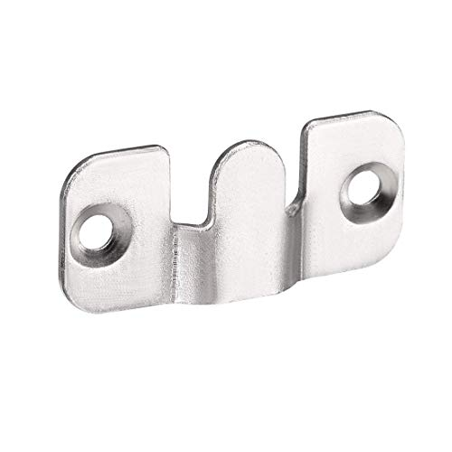 ZCHXD Flush Mount Bracket, 44x19mm Zinc Plated Wall Mount Clip Hook for Picture Frame Hanger, 30 Pcs Flush Wall Mount Bracket
