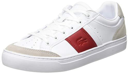 Lacoste Courtline 319 1 Us Cfa, Zapatillas para Mujer, Blanco White/Red 286, 38 EU