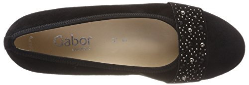 Gabor Comfort Basic, Scarpe con Tacco Donna Nero (Schwarz Deko)