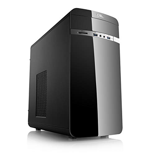 CSL Computer Aufruest-PC 891 - Pentium G4560 - Multimedia DualCore! Intel Pentium G4560 2× 3500 MHz, 4GB DDR4, Intel HD Graphics 610, CardReader, GigLAN, 7.1 Sound, USB 3.1 -