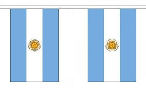 Drapeau de l'Argentine 6 m Guirlande 22 cm x 15 cm (9 \\