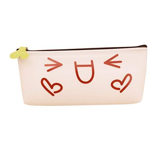 Federmäppchen Unisex Emoji Schule Kasten Casual Chic Gel Gelee Bleistift Tasche Große Kapazitäts Kosmetik Koreanische Art (Farbe A (Color : B, Size : One Size) -