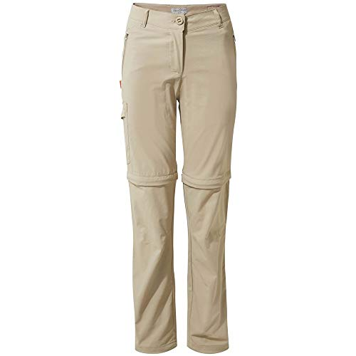 Craghoppers NosiLife Pro II Convertible Trousers Women - Regular Version - Zipp-Off Hose mit Schutz vor Insekten