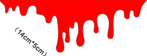 SHENCHI gocce di sangue di sinistra sanguigni fanale posteriore adesivi creativi apposto fanale posteriore del faro esposte sangue omicida pasta modificato auto adesivi formato: 14cm * 5cm