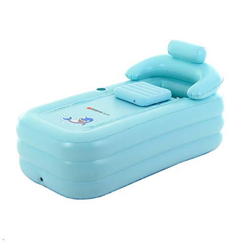 Verdicken Sie aufblasbare Badewanne für Erwachsene, faltende Badewannen PVCs mit elektrischer Luftpumpe, tragbare tränkende Badewanne-Whirlpool-Baby-Pool (Farbe : Grün)