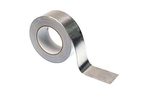 Aluminium-Klebeband–50m–hochwertige Schwerlast Premium Rolle von gocableties, silber