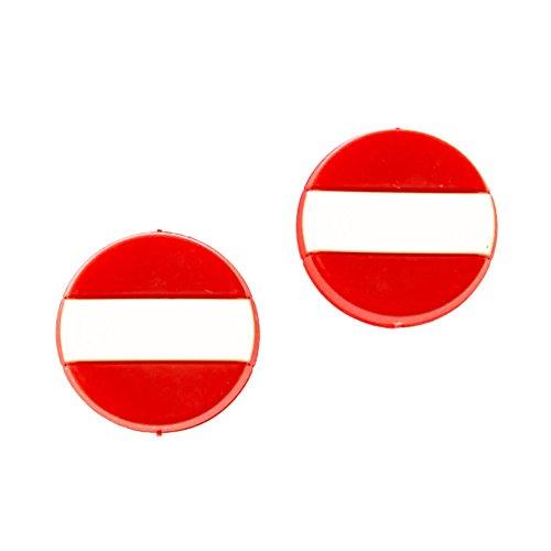 Tennis Feel • Nationalflaggen • Vibrationsdämpfer für Tennisschläger • 7 Länder • 2/5er Pack Dämpfer (Österreich, 2 pcs)