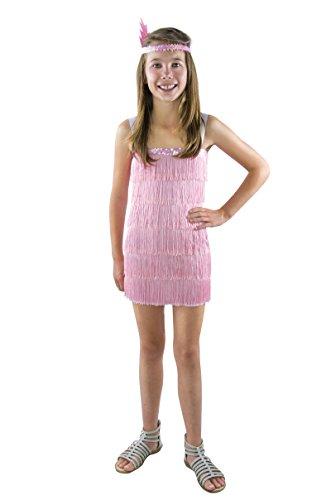 P 'tit Clown-98897-Kostüm Kinder Kleid Charleston-Rosa-10/12Jahre