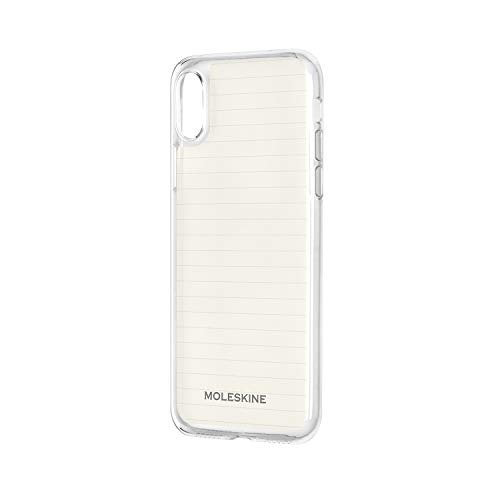Moleskine - iPhone Hülle - Durchsichtige Hülle mit Papier - Schutzhülle Transparentes Etui mit Papiervorlagen für Cover iPhone X - Durchsichtig