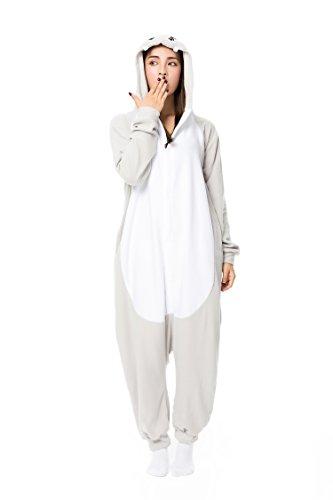 üm Hellgrau Cosplay Overall Schlafanzug Unisex Pyjamas Goldlove Weihnachts - kostüm Warm Kaschmir Jumpsuits Faschingskostüm Kapuzenkostüm (Lustige Weihnachten-schlafanzüge Für Die Familie)