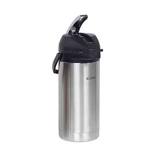 Airpot Glas (BUNN 36725.0000 3.8-Liter Lever-Action Airpot, Stainless Steel by Bunn)