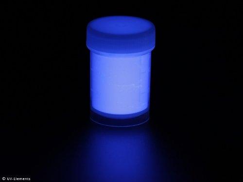 10g - blau - Schwarzlicht, Farbpigment, UV, Neon (Uv-unsichtbare Farbe)