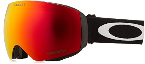 Oakley Skibrille Flight Deck SNOW XM, lens Prizm TORCH Iridium (Matte Black with white logo and black band), One Size, OO7064-39